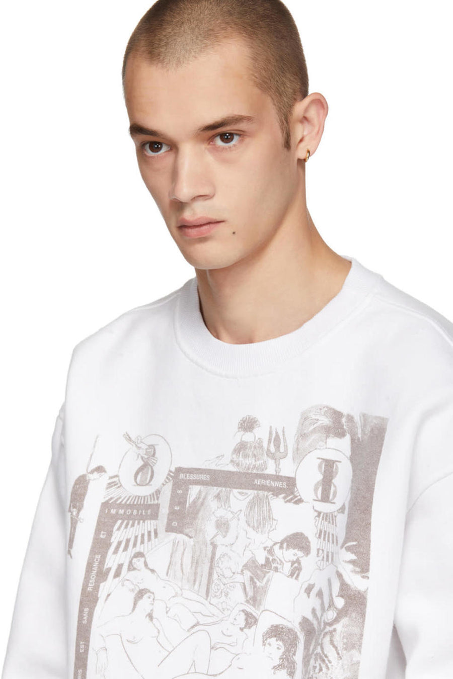Enfants Riches Déprimés White Bath House Orgy Sweatshirt