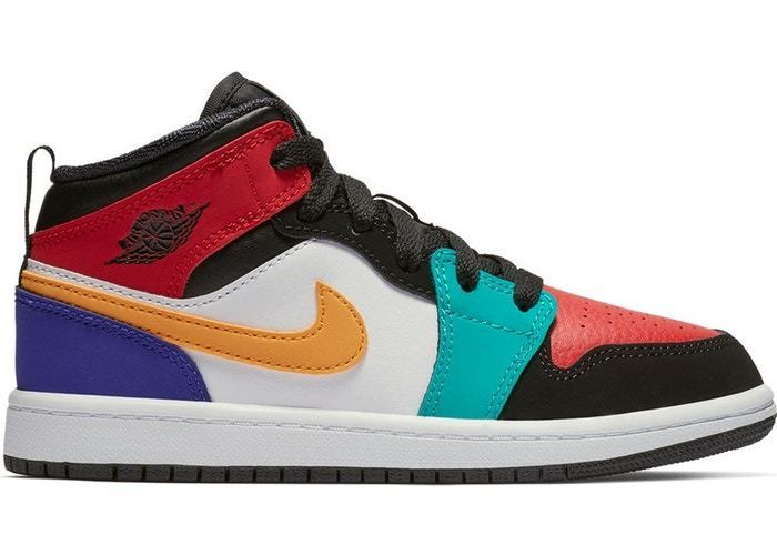 new products f5353 72a81 Air Jordan 1 Mid Bred Multi-Color (PS)