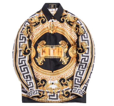 Kith x Versace Silk Shirt Lion