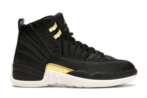 Air Jordan 12 Retro Black Metallic Gold White (W)