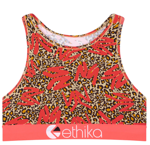 Ethika YOUNG MONEY - LEOPARD High-Neck Bra