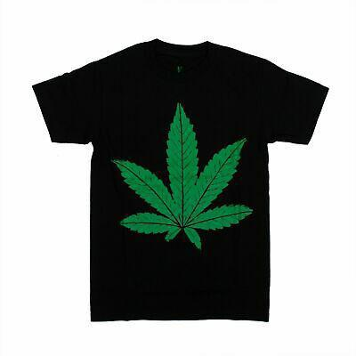 NWT VLONE Black/Green Weed Leaf Short Sleeve T-Shirt
