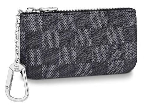 Louis Vuitton Pochette Cle Key Pouch Damier Graphite Black/Grey