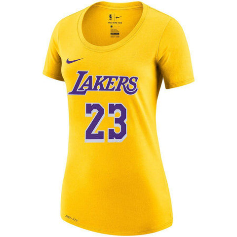 Women's Nike NBA Lakers Lebron Dri-Fit Tee Yellow