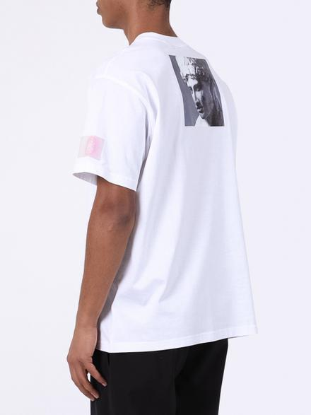 Burberry White Montage Print T-shirt