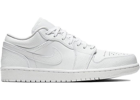Jordan 1 Low Triple White Tumbled Leather