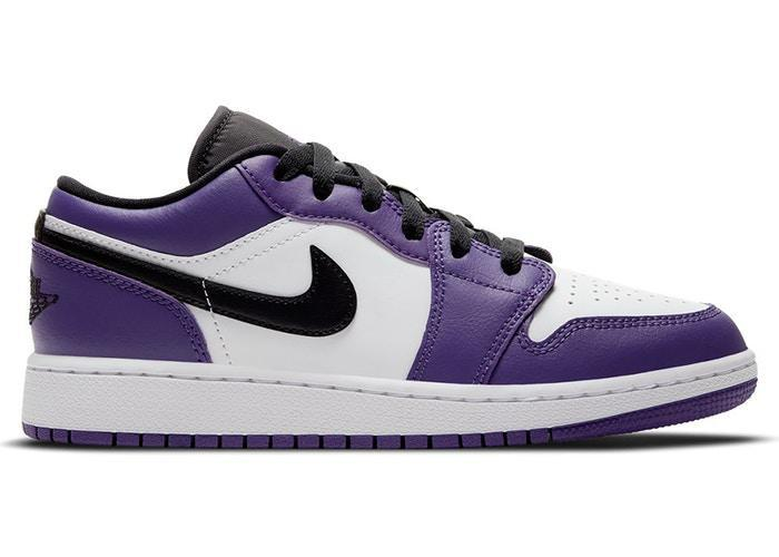 Air Jordan 1 Low Court Purple White (GS)