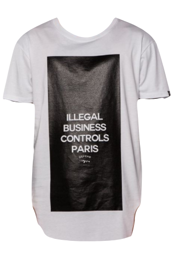Defend Paris  Control Tee White