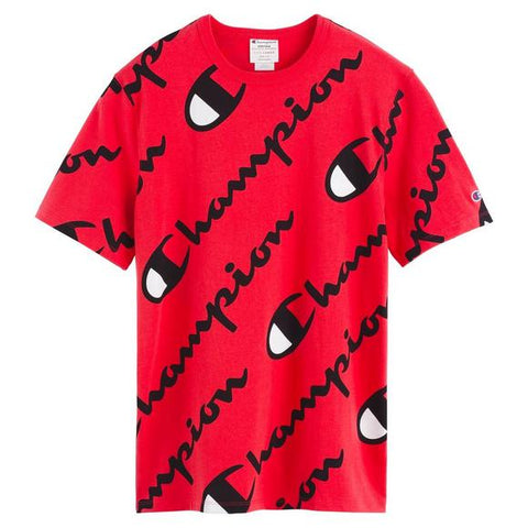 Champion Heritage Script Tee Red