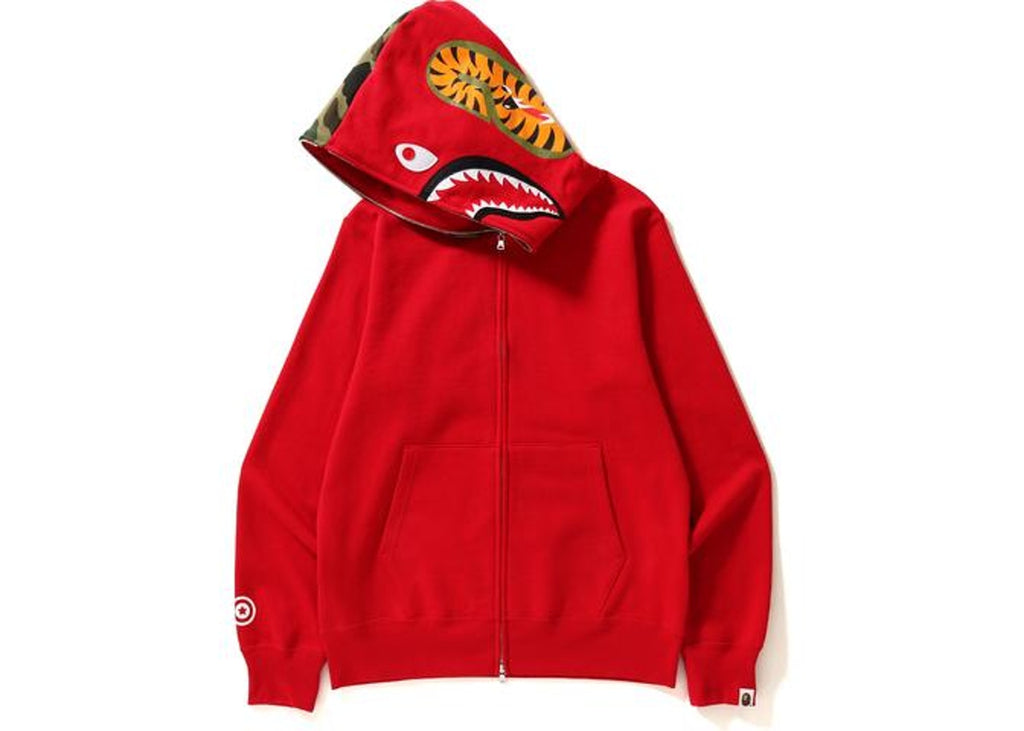 Bape Shark Full Zip Hoodie Red