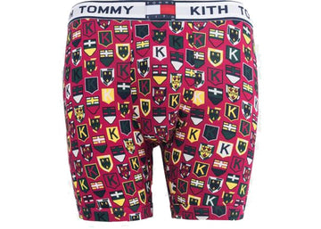 Kith x Tommy Hilfiger Crest Pattern Boxer Red