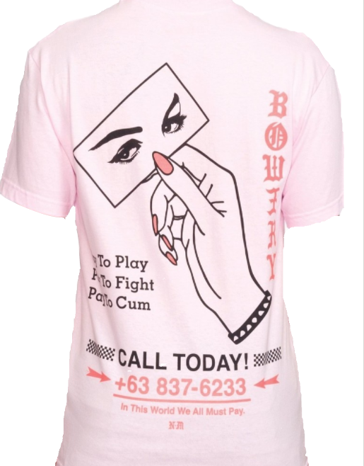 Bow3ry Hotline s/s Tee Pink