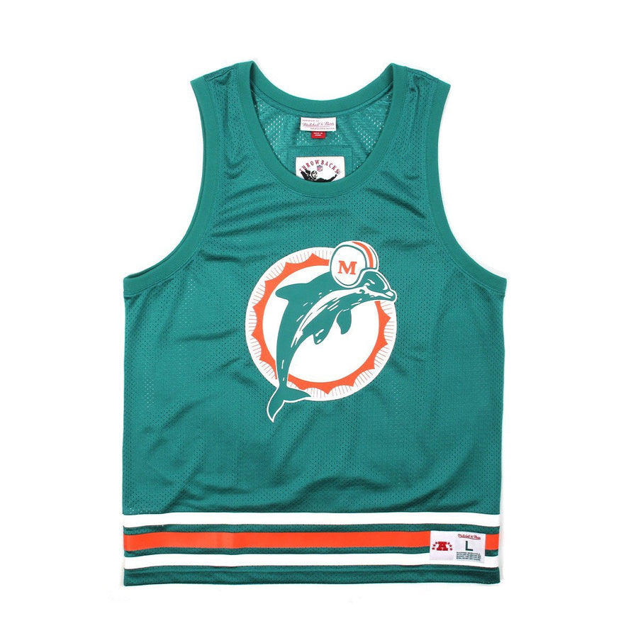 MITCHELL & NESS X CONCEPTS MESH TANK-TOP MIAMI DOLPHINS