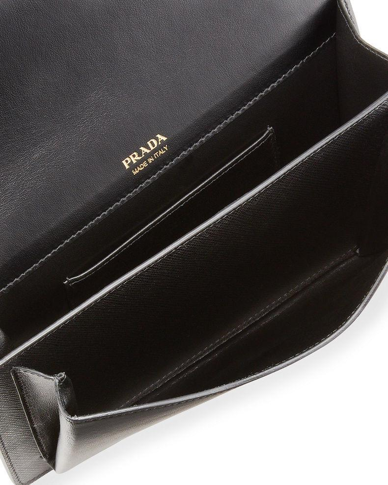 Prada Monochrome Crossbody Bag Black