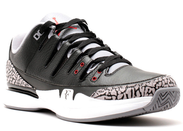 "Nike Zoom Vapor AJ3 ""Black Cement"""