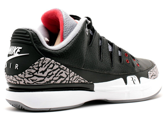 Nike Zoom Vapor AJ3 Black Cement