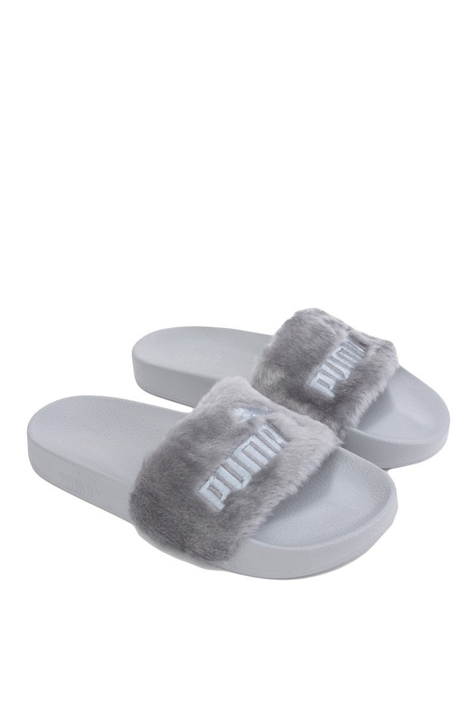 timeless design b6951 6ac01 Puma Rihanna Leadcat Fenty Fur Slide Grey Sandal