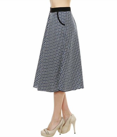 Sumi Blue Links Skirt