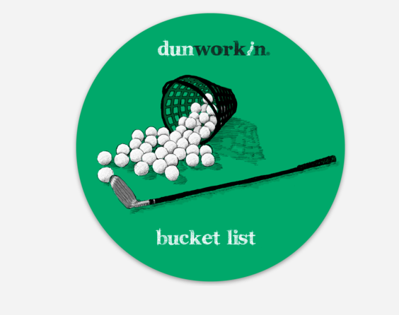 "Sticker Bucket List 4"" Round"