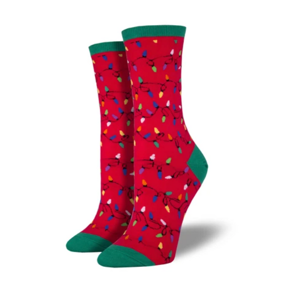 "SockSmith WOMEN'S ""CHRISTMAS LIGHTS"" SOCKS"