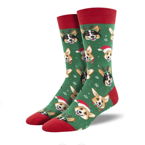 "SockSmith MEN'S ""HAPPY PAWLIDAYS"" SOCKS"
