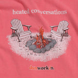 Heated Conversations Bonfire Womens V neck - dunworkin