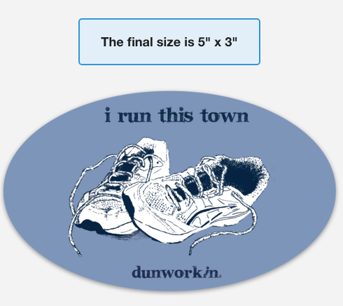 Sticker I Run This Town Oval