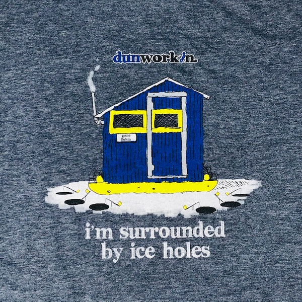 I'm Surrounded By Iceholes Men's Lightweight  Cotton/Poly Blend Tee