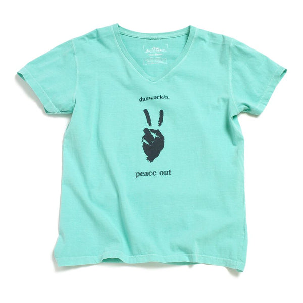 Peace Out Women's V Neck - dunworkin