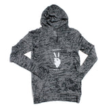 Peace Out Burnout Hoodie Women's - dunworkin