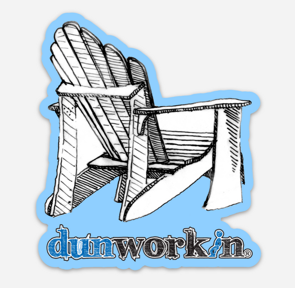 Sticker Dunworkin Adirondack Chair Round
