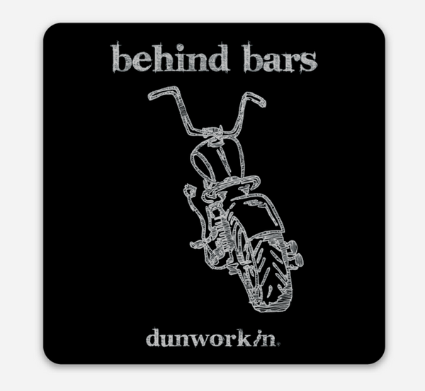 Behind Bars 3x3 rounded corner Square Sticker