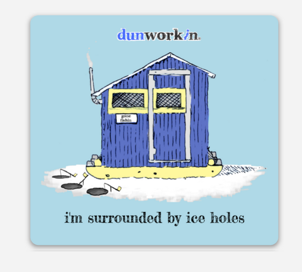 Sticker I'm Surrounded By Ice Holes 3x3 Square