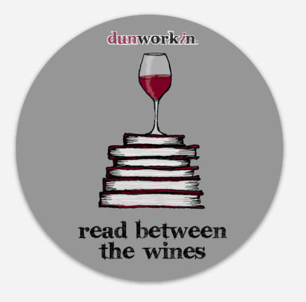 Sticker Reading Between The Wines - dunworkin