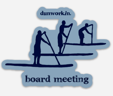 Sticker Board Meeting Die Cut - dunworkin