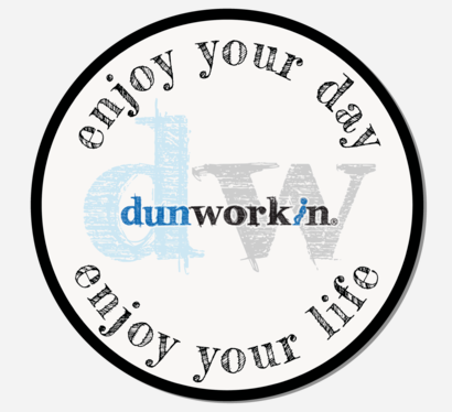 "Sticker DW Dunworkin Enjoy Your Day, Enjoy Your Life 3"" Round - dunworkin"