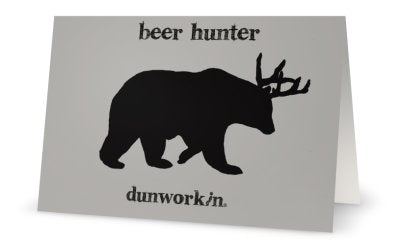Greeting Card Beer Hunter - dunworkin
