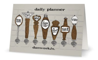 Greeting Card daily planner - dunworkin