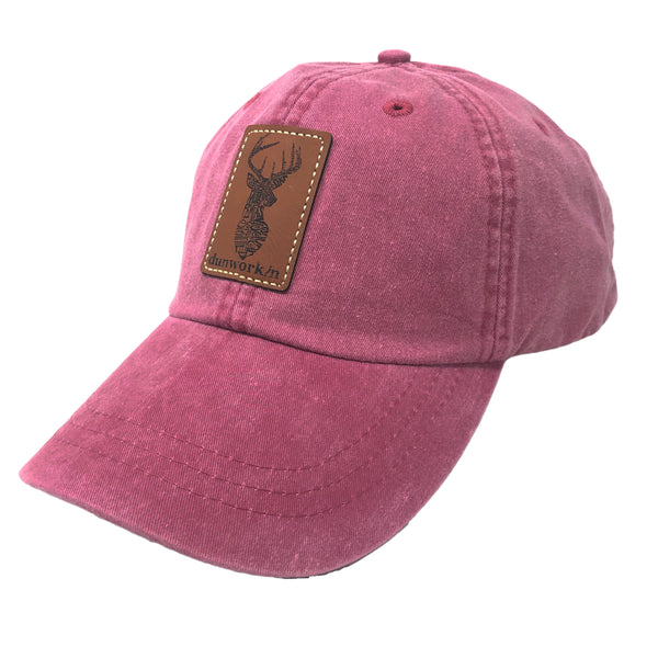 Hat Deer Writing Leather Patch