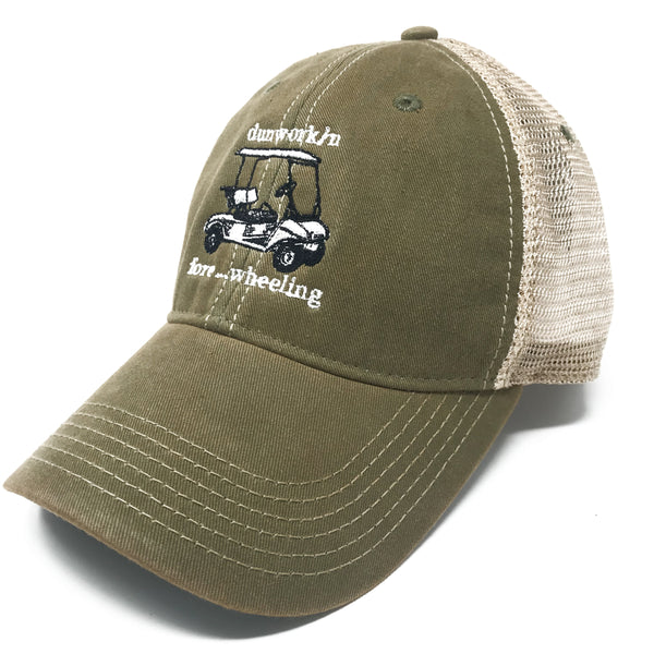Hat Fore....Wheeling Golf Cart Trucker