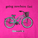 Going Nowhere Fast Women's Long Sleeve Crew - dunworkin