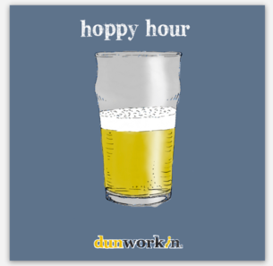 Sticker Hoppy Hour - dunworkin