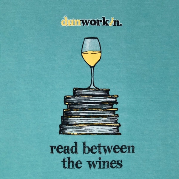 Reading Between The Wines (white wine) Women's SS V Neck - dunworkin
