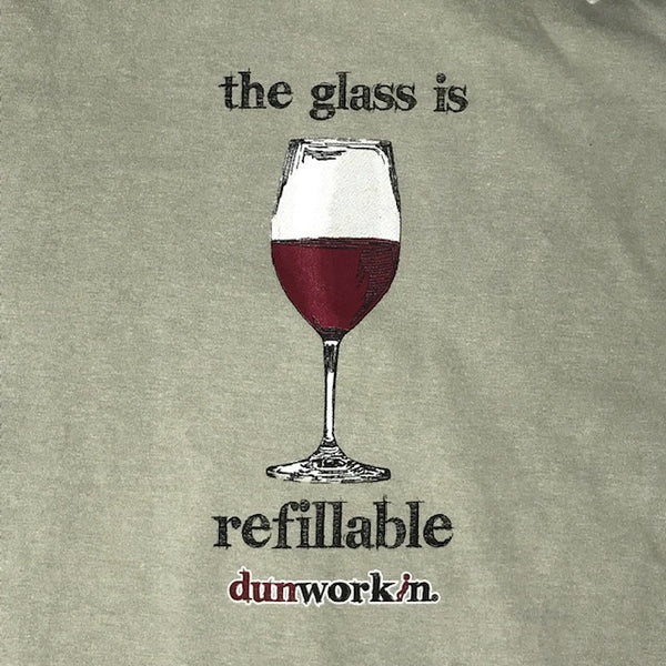 "The Glass Is Refillable "" Red Wine"" Men's Short Sleeve - dunworkin"