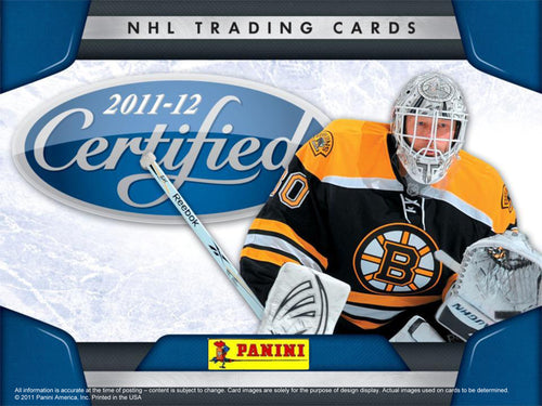 11-12 Panini Certified Hockey 8 box CASE
