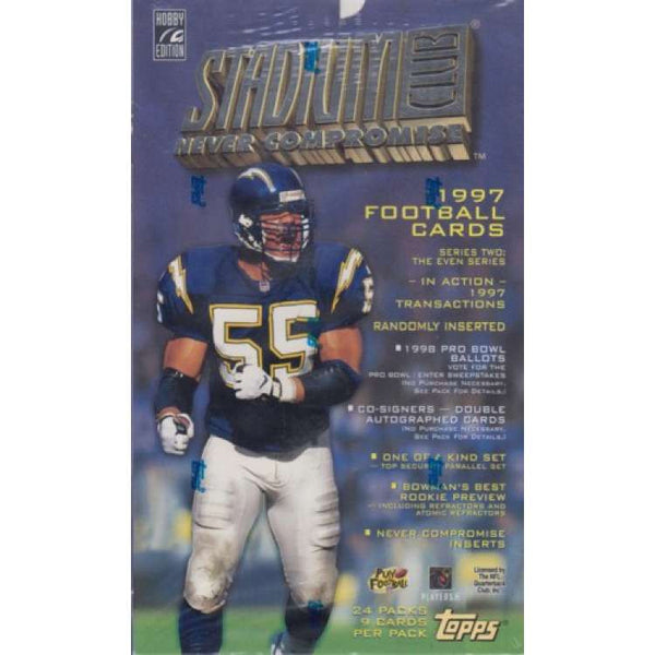 1997 Topps Stadium Club Football hobby box - All Star Case Breaks