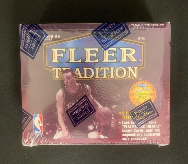 1998-99 Series I Fleer Tradition Basketball Retail 20 pack Box