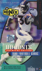 1999 Upper Deck Ionix Football Hobby Box