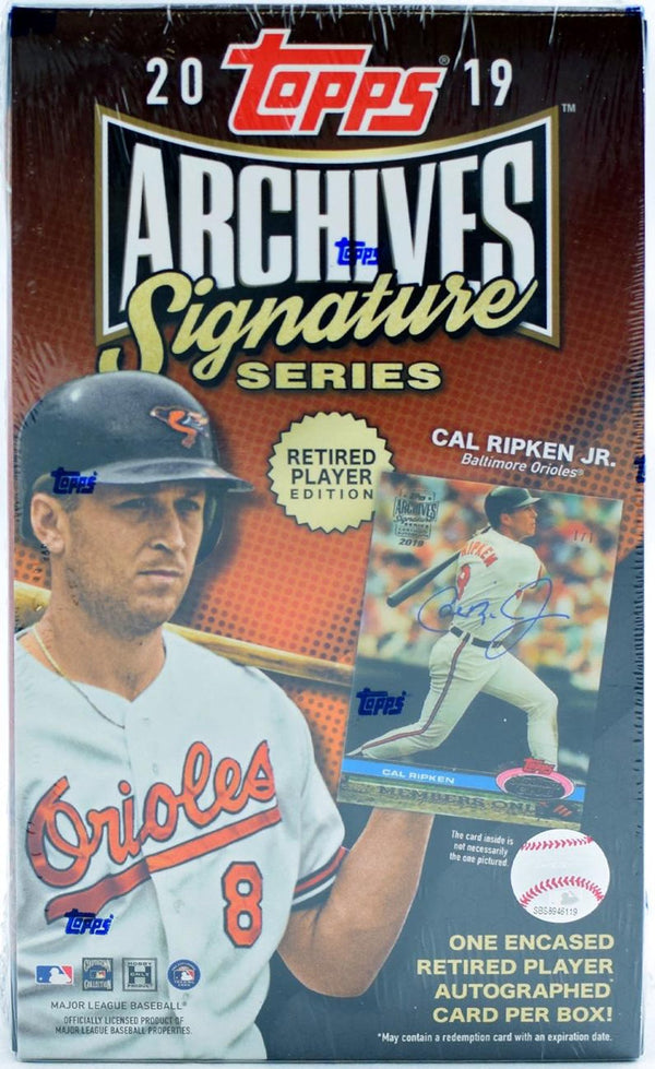 2019 Topps Archives Signature Edition RETIRED Player Baseball Hobby Box Case
