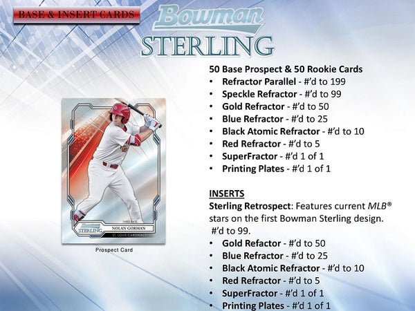 2019 Bowman Sterling Baseball Hobby Box